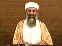 Osama Bin Laden in his new video