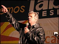 Broad Front coalition presidential candidate, Tabare Vazquez