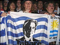 A Broad Front coalition rally in Uruguay