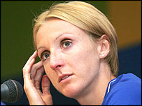 Paula Radcliffe after her Athens disappointment