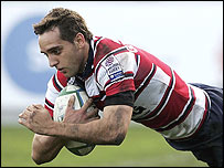 Jon Goodridge scored for Gloucester