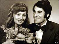 Teresa Borcz-Khalifa, left, who holds dual Polish-Iraqi citizenship, with her Iraqi husband in a 1978 wedding picture