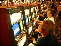 Slot machines at a casino
