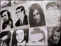 Fotos de desaparecidos en Chile.
