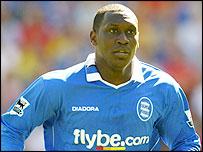 Birmingham striker Emile Heskey