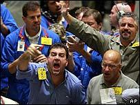 Traders at Nymex