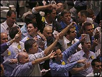 Oil traders at Nymex