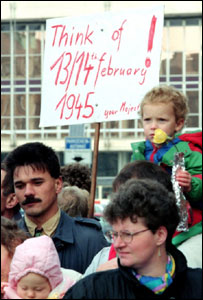 Protesters in 1992
