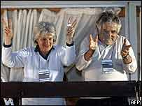 Lucia Topolansky y Jos� Mujica.