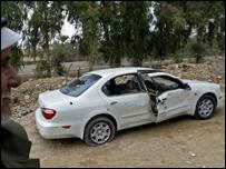"""سيارة نائب محافظ بغداد الذي تبنت جماعة """"أنصار السنة"""" اغتياله عام 2004"""