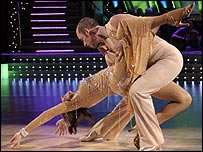Carol Vorderman and Paul Killick in Strictly Come Dancing