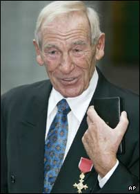 Bert Trautmann with his OBE