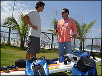 Los windsurfistas en R�o de Janeiro
