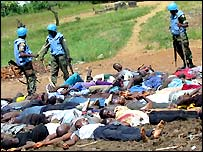 UN troops with detained Liberians