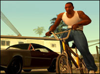Screengrab of GTA: San Andreas, Rockstar Games