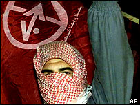 PFLP supporter in Gaza City, 2002