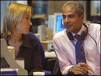 Sophie Raworth and George Alagiah
