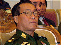 Prime Minister Soe Win attends at a regional meeting in Rangoon, Friday Oct. 29, 2004