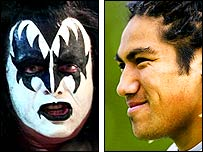 Gene Simmons from Kiss and Ma