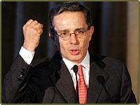 Colombian President Alvaro Uribe Velez