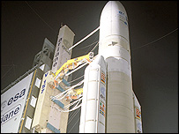 Ariane 5-ECA rocket on the launch pad (Image: Esa)