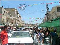 Bint Jbeil street scene in southern Lebanon