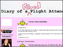 Screengrab of Queen of the Sky's website