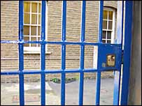 Barred door at Brixton Prison