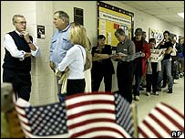Voter queue in Columbus, Ohio