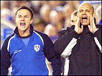 Millwall duo Dennis Wise and Ray Wilkins