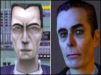 Screenshots from Half-Life and Half-Life 2