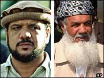General Fahim (L) and Ismail Khan