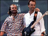 Phil Collins and Sting at Wembley