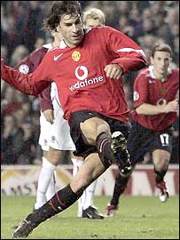 Ruud van Nistelrooy scores his second from the penalty spot