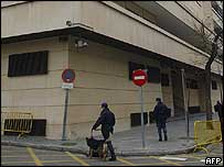 Police patrol High Court in Madrid