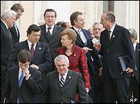 EU leaders in Rome, 29 Oct 04