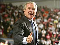 George W Bush after his re-election