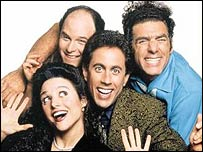The cast of US comedy series Seinfeld