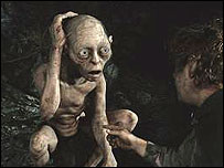 Gollum from The Lord of the Rings trilogy