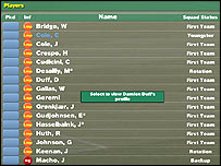 Screenshot of Football Manager 2005