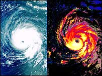 Medium Resolution Imaging Spectrometer images show Hurricane Isabel (Image: Esa)