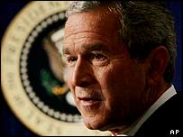 US President George W Bush speaks to reporters, 4 November 2004