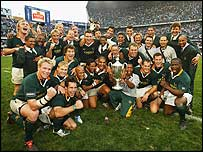 The Boks celebrate Tri-Nations victory