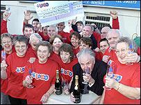 Jim Jones and fellow lottery syndicate winners