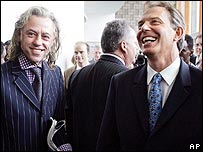 Bob Geldof (left) and Tony Blair