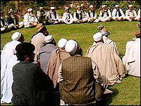 A tribal meeting or jirga