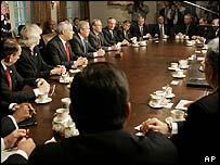 The Bush cabinet meets on 4 November