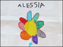 Drawing by a young girl at the Rossiglione primary school