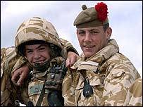 Paul Lowe (right) pictured with his brother Craig during a training exercise
