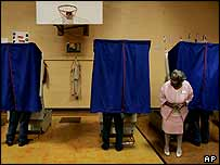 Polling station in Ohio, 2 November 2004